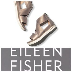 Eileen Fisher Sport Criss Cross Suede Sand…